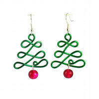 Christmas Tree Earrings - Festive earrings stocking filler gift for her