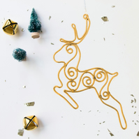Swirl Reindeer Christmas Decoration