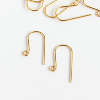 24K Gold-Plated Earwires,  5 Pairs