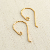 24K Gold-Plated Earring Hooks, 5 Pairs Classic Earwires