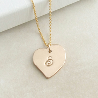 Personalised Heart Initial Pendant Necklace