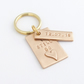Personalised Bronze Wedding Anniversary Keyring Gift
