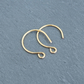 5 pairs 24K Gold-plated Round Earwire Findings