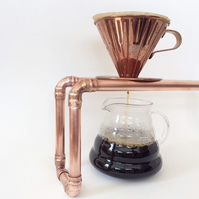 Copper Coffee Dripper Stand Handmade UK