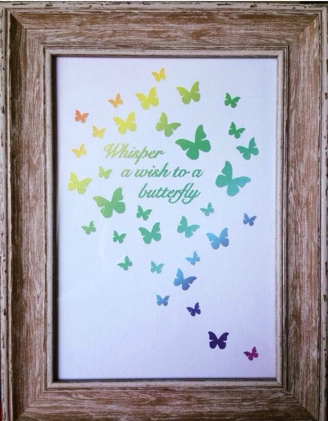 Paper Cut. Whisper A Wish To A Butterfly. Unframed