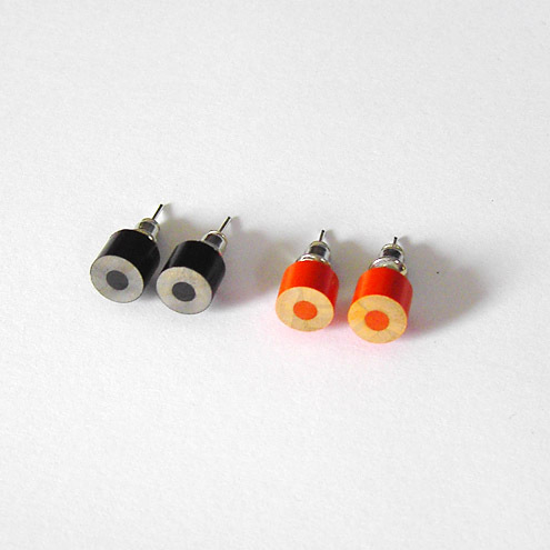 colour pencil ear studs, The Halloween Collection