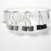 color pencil dangle earrings, the black, grey and white collection