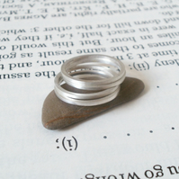 slim stacking ring in sterling silver, 1 ring.