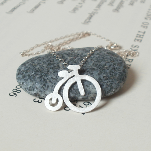 Penny Farthing necklace in sterling silver