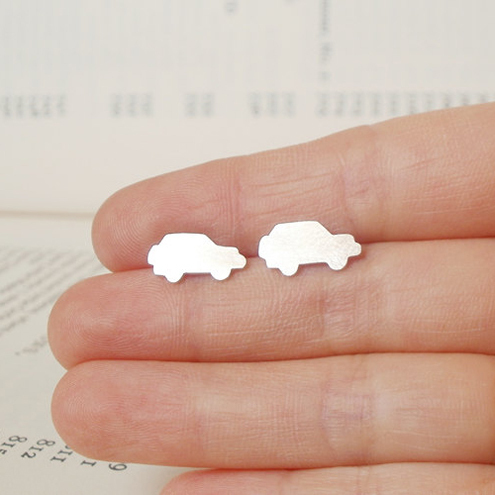 small car ear studs,  Land Rover earring studs