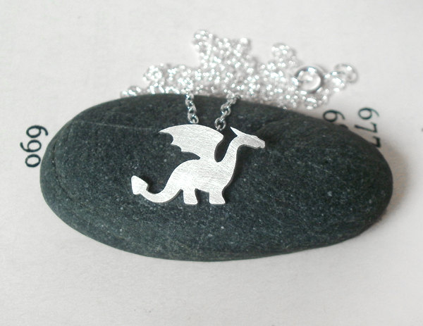 dragon necklace in sterling silver