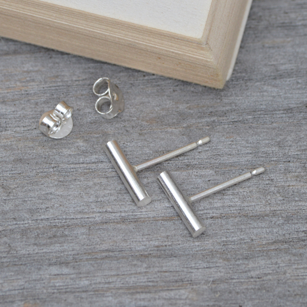 simple stick earring studs