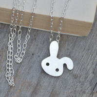 bunny rabbit necklace with floppy ear