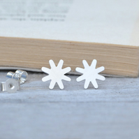 star ear studs in sterling silver