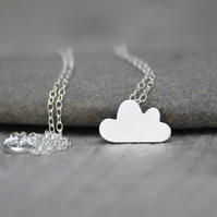 lucky happy cloud necklace in sterling silver