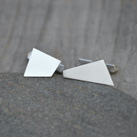 Quadrilateral Cufflinks In Sterling Silver