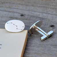 Big Dipper Asterism Cufflinks In Sterling Silver