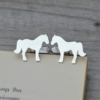 Horse Cufflinks In Solid Sterling Silver