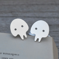 Skull Cufflinks In Sterling Silver