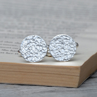 Simple Cufflinks With Textured Surface
