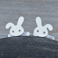 Bunny Rabbit Cufflinks In Sterling Silver