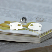 Holiday Caravan Earring Studs In Sterling Silver