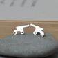 Cannon Earring Studs In Sterling Silver