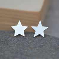 Star Earring Studs In Sterling Silver
