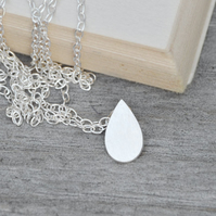 Raindrop Necklace Teardrop Necklace