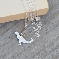 Tyrannosaurus Rex Necklace In Sterling Silver