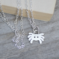 Spider Necklace In Sterling Silver