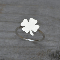 Lucky Shamrock Ring In Sterling Silver
