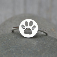 Pawprint Ring In Sterling Silver