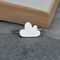 Fluffy Cloud Ring In Sterling Silver