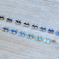 Blue Color Pencil Ear Studs, Blue Earring Stud, 14 Shades Of Blue