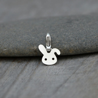 Bunny Rabbit Charm For Bracelet In Sterling Silver