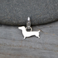 Dachshund Charm For Bracelet In Sterling Silver, Sausage Dog Charm