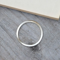 Inside Out Stacking Ring In Sterling Silver