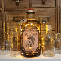 Angel Tears The Lost Crow Brown Apothecary Potion Bottle Lamp