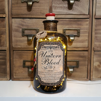 Unicorn Blood Brown Apothecary Potion Bottle Lamp