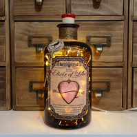 Elixir Of Love The Lost Crow Love Brown Apothecary Potion Bottle Lamp