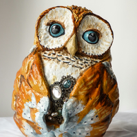 Owl Sculpture - Jewelled