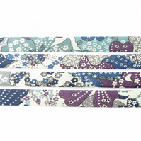 Mauvey B - Liberty fabric bias binding, sewing supplies