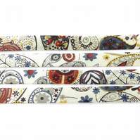 Mark H - Liberty fabric bias binding, jewellery making supplies