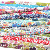 5 yards Liberty fabric bias binding mixed cut-offs grab bag