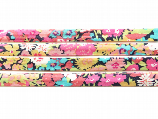 Thorpe W - Liberty fabric bias binding, haberdashery supplies