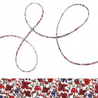 Helena's Meadow D - Liberty fabric spaghetti cord, jewellery making