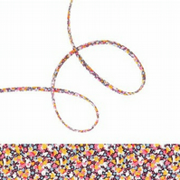 Pepper K - Liberty fabric spaghetti cord, fabric cord for jewellery making