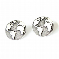 1x earth button, TierraCast button for leather wrap bracelets