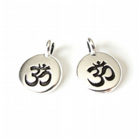 1x om charm, TierraCast jewellery findings for bracelets and necklaces